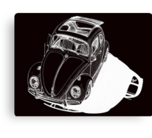 VW shadow in white Canvas Print
