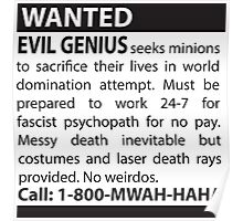 Minions Wanted Poster