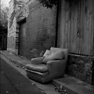 Urban Landscape#15 Abandoned Chair Newtown by Juilee  Pryor