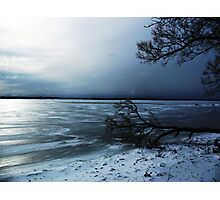 Winter Blue In Belleville Ontario Photographic Print