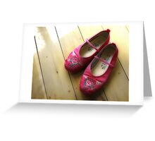 Little Pink Slippers Greeting Card