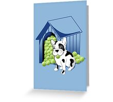 Frenchie Oh la la Greeting Card