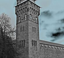 Cardiff Castle Clock Tower C by VikingVisual