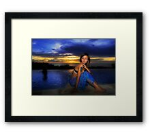 The Evening Squall Framed Print
