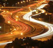 Freeway Perth Australia by Nigel Donald