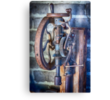 Vintage Blacksmith Drill Press Canvas Print