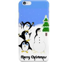Christmas Penguins iPhone Case/Skin