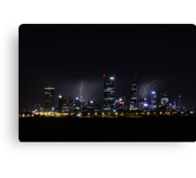 Thunderstorm Over Perth  Canvas Print