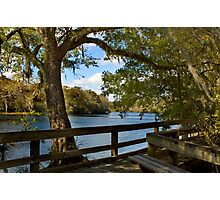 Boardwalk on the Suwannee River Photographic Print