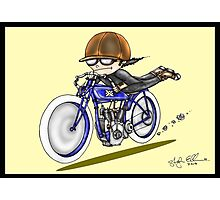 MOTORCYCLE EXCELSIOR STYLE (yellow) Photographic Print