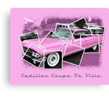 Cadillac Photo Montage Canvas Print