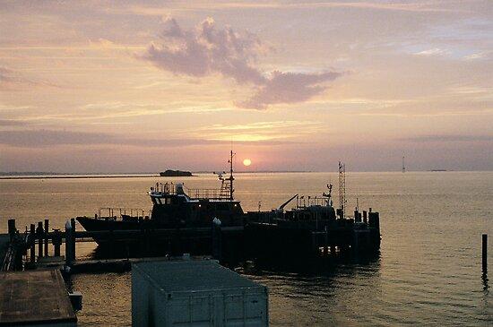 Sunrise Over Charleston Harbor by James J. Ravenel, III