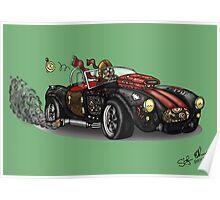 Steampunk Cobra (Green) Poster