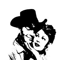 Robert Taylor And Arlene Dahl In The West by Museenglish
