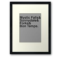 Where the Vampires live.... Vintage Black Framed Print