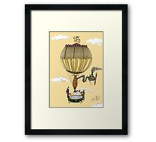 STEAMPUNK HOT AIR BALLOON (Gold) Framed Print