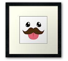 Mustache Poro Framed Print