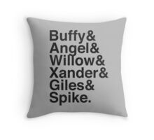 The Scooby Gang Vintage Black Throw Pillow
