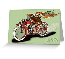 INDIAN MOTORCYCLE STEAMPUNK STYLE Greeting Card