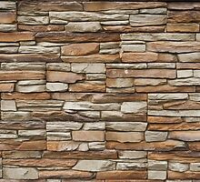 Stone stucco wall by Ron Zmiri