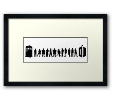 The Evolution of the Doctor Framed Print