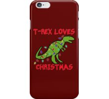 T-REX LOVES CHRISTMAS iPhone Case/Skin