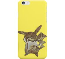 Pokemon Kanto Map in Pikachu cut out iPhone Case/Skin