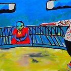 Budda on a bench 2 by Brett Sadhwani
