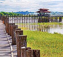 U Bein Bridge Amanapura. by bulljup
