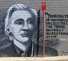 Street Art: global edition # 37 - Wikileaks by fenjay