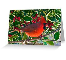 Berry Red Greeting Card