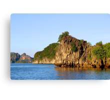 Rocky Islands at Sunset - Hạ Long Bay, Vietnam. Canvas Print