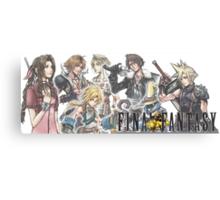 Final Fantasy Characters Canvas Print
