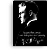 F. Scott Fitzgerald Design Canvas Print