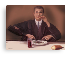 Rene Magritte- self portrait Canvas Print
