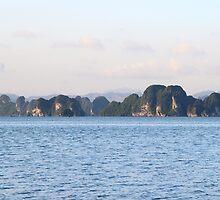 Islands Seascape IV - Ha Long, Vietnam. by Tiffany Lenoir