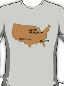 Ogdenville, North Haverbrook and Brockway T-Shirt