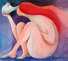 Mujer y paloma by Jose De la Barra