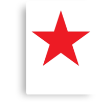 Red Star, Power to the people! STELLAR ACHIEVEMENT, cool Canvas Print