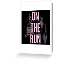 J + B On The Run (BEY Pink) Greeting Card