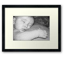 Sleepy baby Framed Print