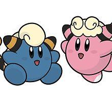 Kirby / Mareep - Flaaffy by elenwae