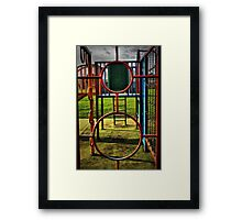 Play time - shapes Framed Print