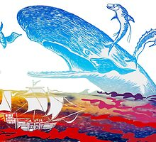 Moby Dick and the Red Sea by MickDodds