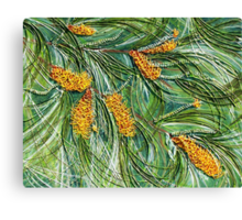 Golden Bottlebrush Canvas Print