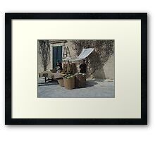 From the past (1 of 4) - Vegetables and Fruit sellers Framed Print