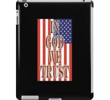 America, In God we trust, USA, American, official motto, flag iPad Case/Skin