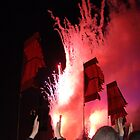 Glastonburys Fireworks by Allison Lane