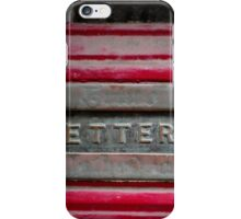 Letter box iPhone Case/Skin
