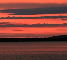 sunrise in copper harbor, michigan by Lynne Prestebak